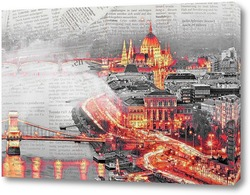 Постер Ночной Будапешт