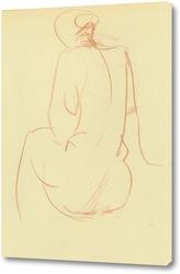 Постер набросок женской фигуры