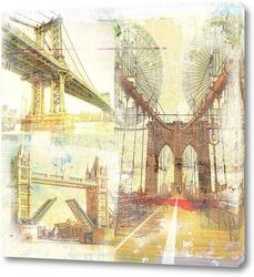 Постер Знаменитые мосты