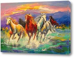 Постер Табун лошадей