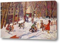 Постер Зима в парке