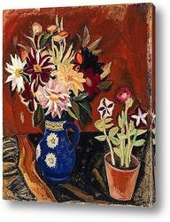 Картина Цветы в голубой вазе