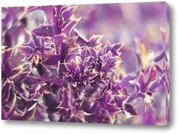 Постер яркий растительный фон в сиреневых тонах