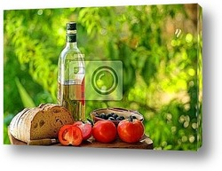 Постер  Ingredients of the kitchen mediterranean.