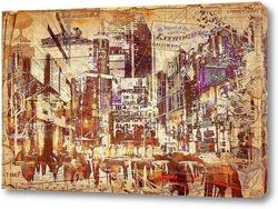 Картина рисунок мегаполиса