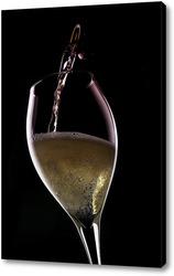 Постер Шампанское на черном