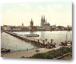 Постер Общий вид, Кельн, Рейн, Германия
