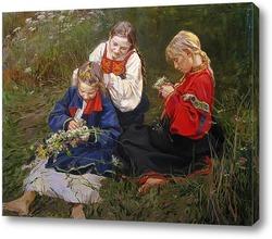 Картина Полевых цветов веночки