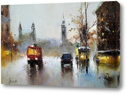 Картина Зимний город