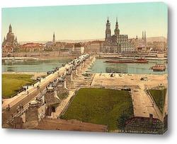 Постер Старый город, Дрезден, Саксония, Германия. 1890-1900 гг