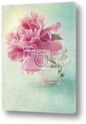 Красивый букет из розовых пионов