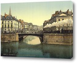 Постер Пересечение Эдра и Луары, Нант, Франция.1890 -1900 гг