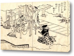 Хатсухана делает покаяние под водопадом Тоносава