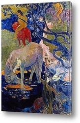 Постер Белая лошадь. 1898
