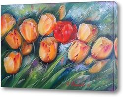 Постер Тюльпаны и мак