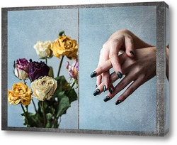 Постер Цветы и руки