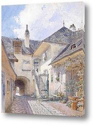 Постер Картина художника XIX-XX веков, пейзаж, город
