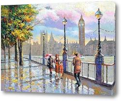 Картина Дождливый Лондон