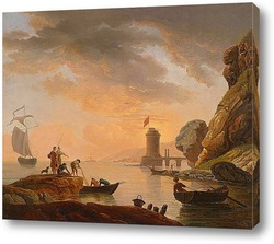 Рыбаки;море;гора