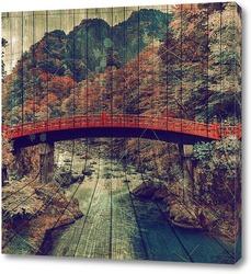 Постер Японский мост
