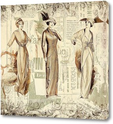 Постер Эскизы ретро моды