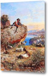 Картина Соррентийский пейзаж и пастух, 1893