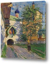 Постер Церковь Святого Николая. Внутренний вход в монастырь