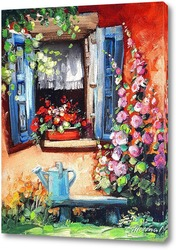 Картина Окошко в сад.