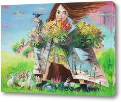 Картина Полные карманы весны