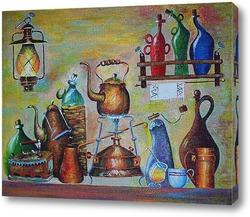 Постер Примус, лампа и другие