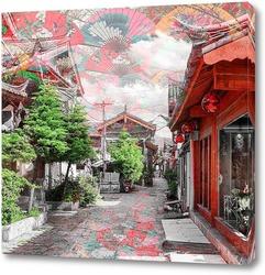 Постер Живописная улица.Китай