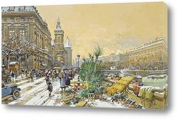 Картина Дока с цветами и консьерж