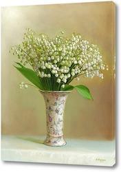 Постер Ландыши в светлой вазочке