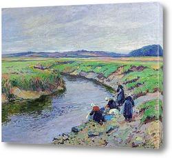 Картина Прачки на берегу реки