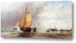 Картина Свежим утром на голландском побережье