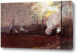 Картина Вечерний поезд на Хауторн