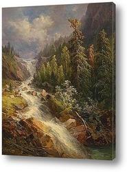 Постер Водопад на озере Грандл