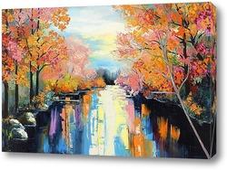 Картина Осенний поток