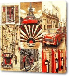 Постер Retro city