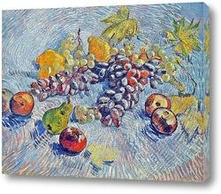 Виноград, лимоны, груши и яблоки
