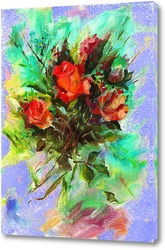 Постер Букет роз любимой