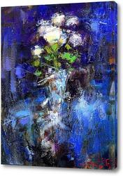 Постер Розы на синем