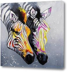 Zwei Steppenzebras, Equus Quagga