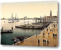 Постер Королевская яхта, Венеция, Италия.