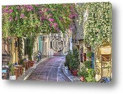 Постер Обычная улочка в Греции.
