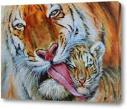 Картина Тигрица с тигренком