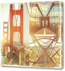 Постер Мосты на рассвете