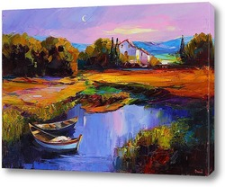 Картина Домик в горах