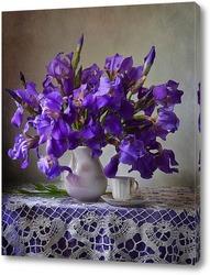 Постер Фиолетовые ирисы