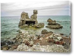 Постер Остатки крепости у моря